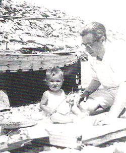 Dionis y su hijo Toni